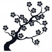 silueta větve Sakura