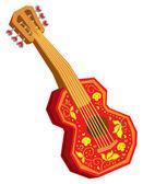 Fotografie Akustische Cartoon-Gitarre