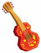 Akustische Cartoon-Gitarre