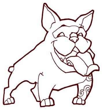 Happy bulldog illustration
