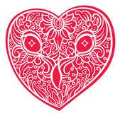 Fotografie owl heart shaped head
