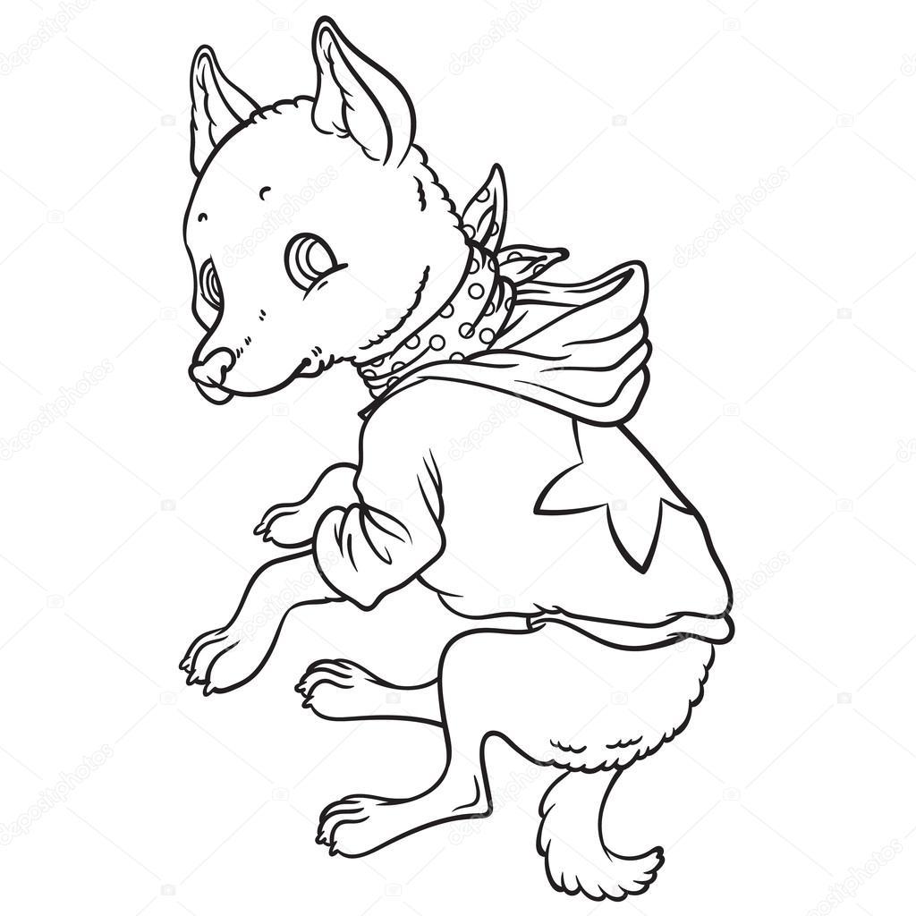 cão dos desenhos animados de chihuahua com capuz vetores de stock