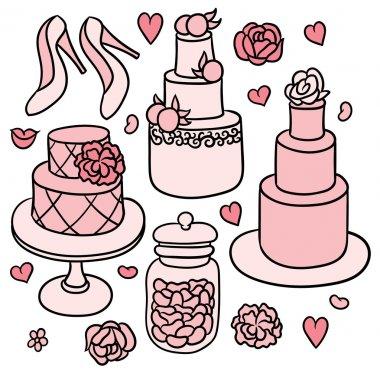 Sweet Romantic Wedding Stuff Free Vector Eps Cdr Ai Svg Vector Illustration Graphic Art