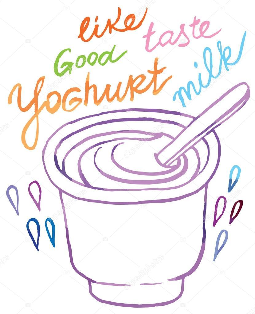 темные йогурт рисунки карандашом сегодня