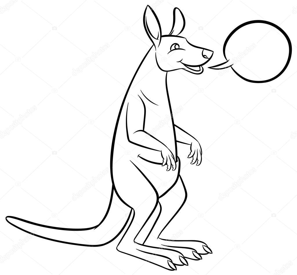 Caricatura alegre canguro — Archivo Imágenes Vectoriales ...