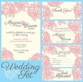 Svatební přání s růží v retro stylu