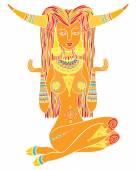 Mädchen Taurus, Tierkreis astrologisches Zeichen