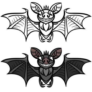 bat halloween illustration