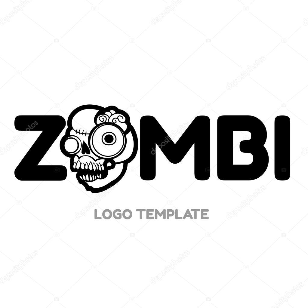 Cartoon zombie head
