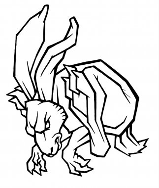 energetic figure quickly leaping hare