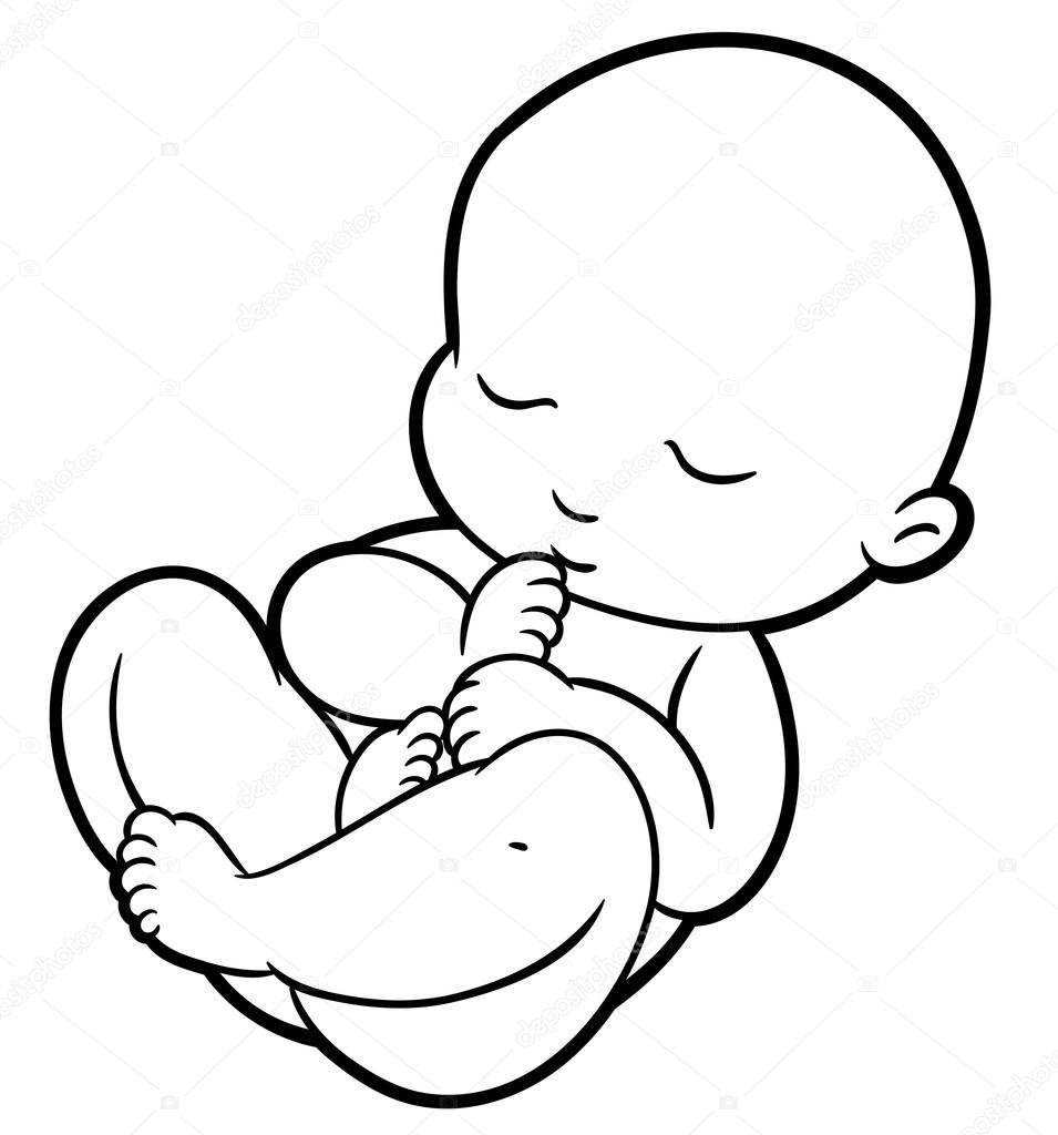 новонароджений малюк стоковий вектор Annasuchkova 98359724