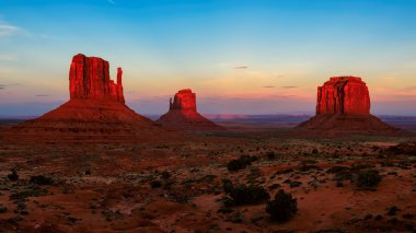 The famous Buttes of Monument Valley at sunset, Utah, USA