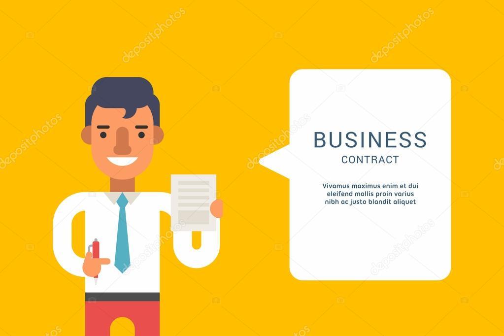 Business Concepts mit Geschäftsmann Cartoon-Charakter. Geschäftsmann ...
