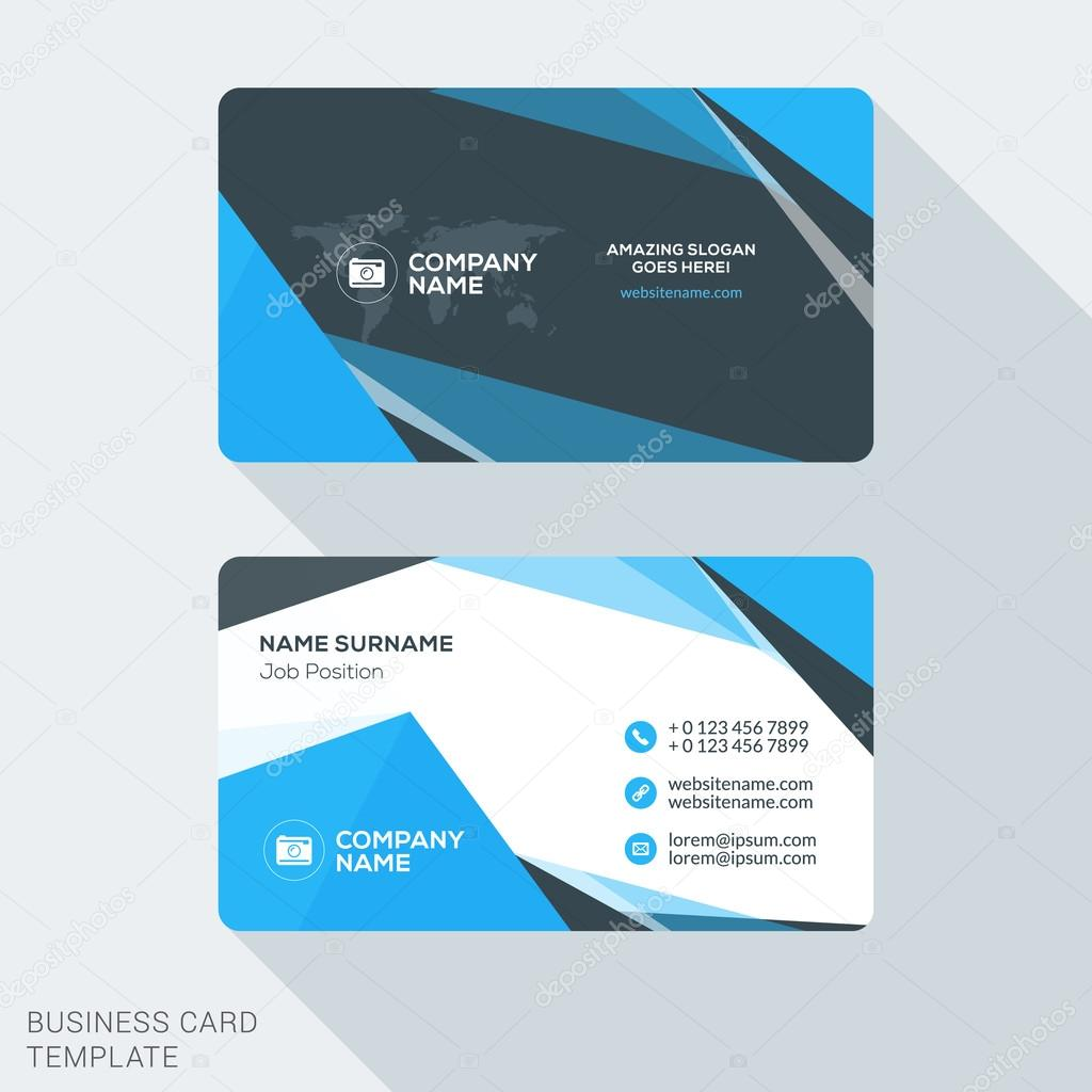 Creative and clean business card template flat design vector creative and clean business card template flat design vector illustration stationery design stock colourmoves