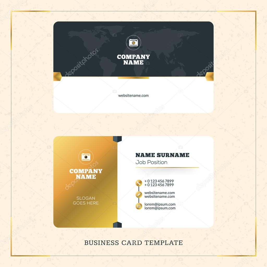 Creative golden business visiting card vector design template creative golden business visiting card vector design template vector illustration stationery design gold reheart Gallery