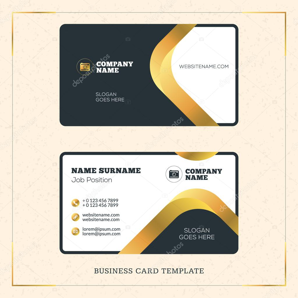 Creative golden business visiting card vector design template creative golden business visiting card vector design template vector illustration stationery design gold reheart Choice Image