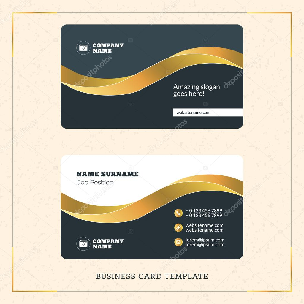 Creative golden business visiting card vector design template creative golden business visiting card vector design template vector illustration stationery design gold reheart Images