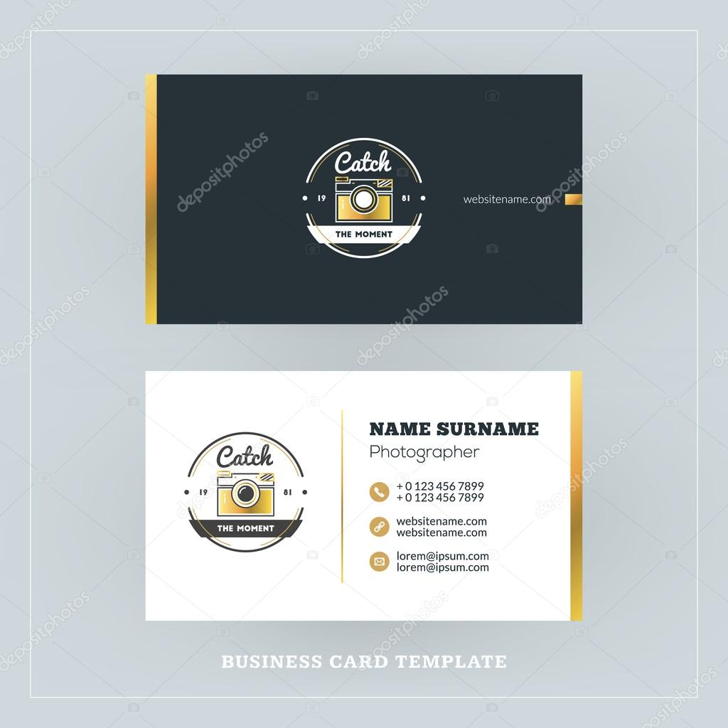 Golden and black business card design template business card for golden and black business card design template business card for photographer or graphic designer reheart