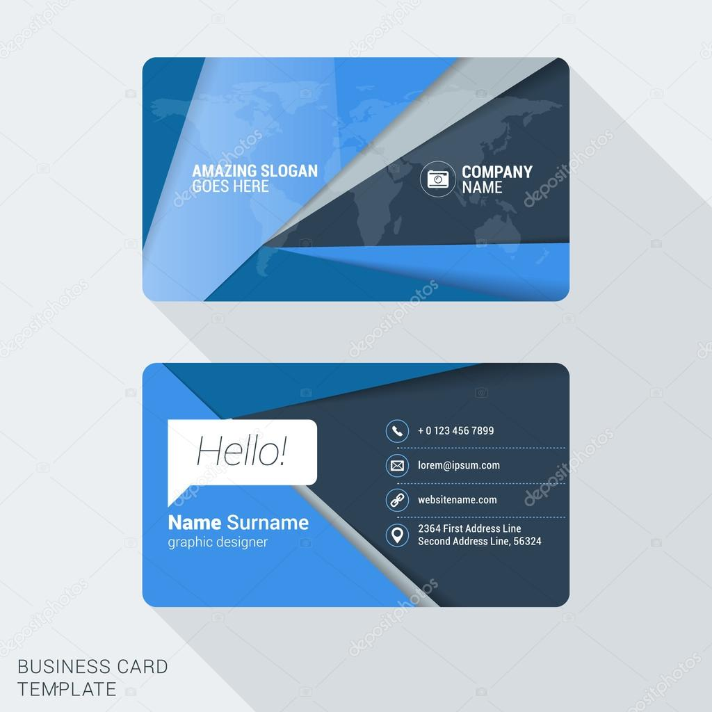 Modern creative business card template flat design vector modern creative business card template flat design vector illustration stationery design vetor de reheart Images