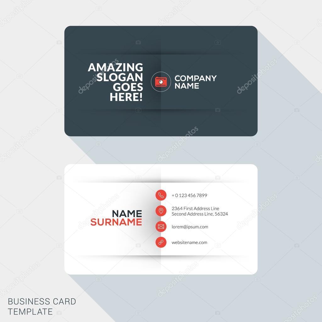 Modern creative business card template flat design vector modern creative business card template flat design vector illustration stationery design vetores de reheart Image collections