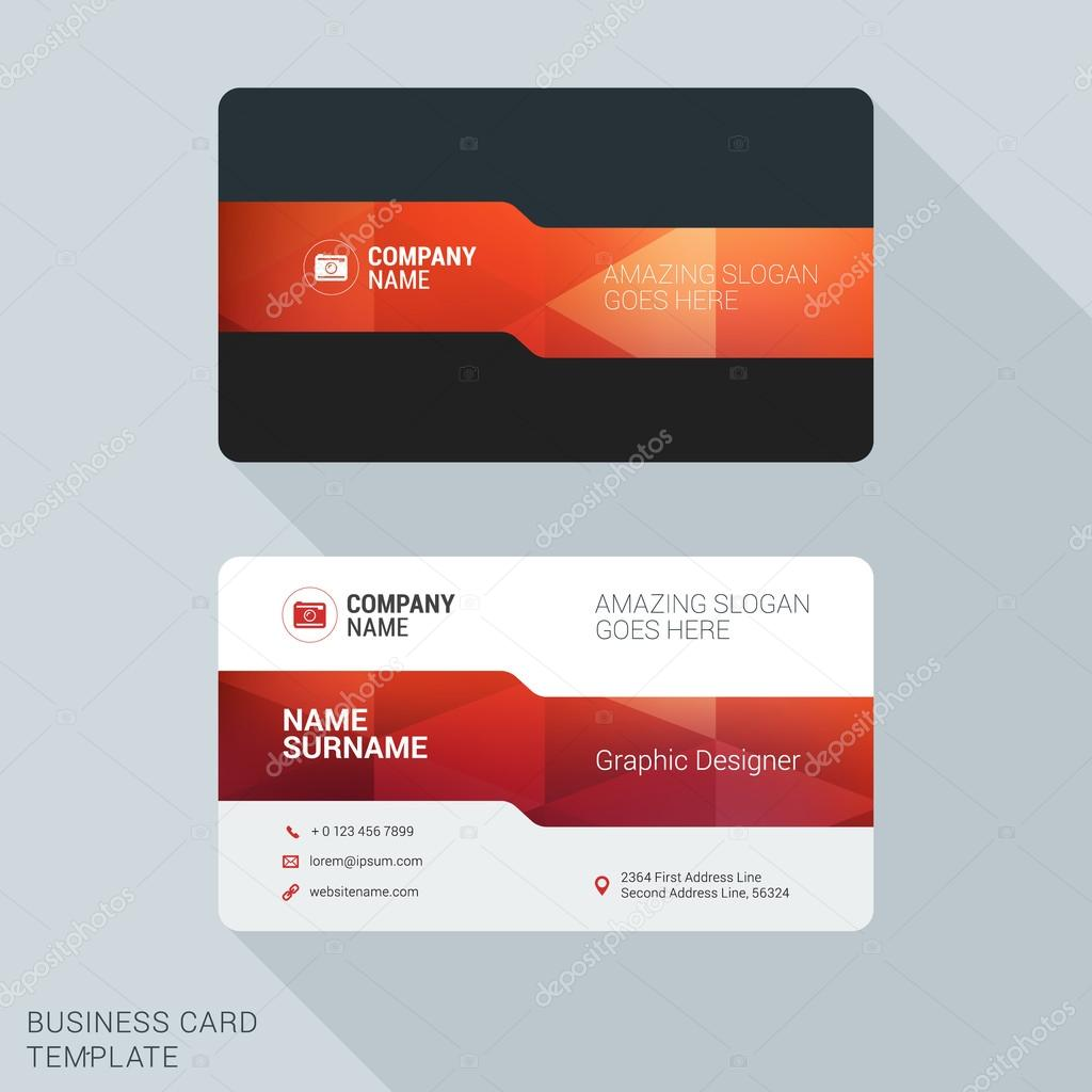 Modern creative business card template flat design vector modern creative business card template flat design vector illustration stationery design vetores de reheart Images