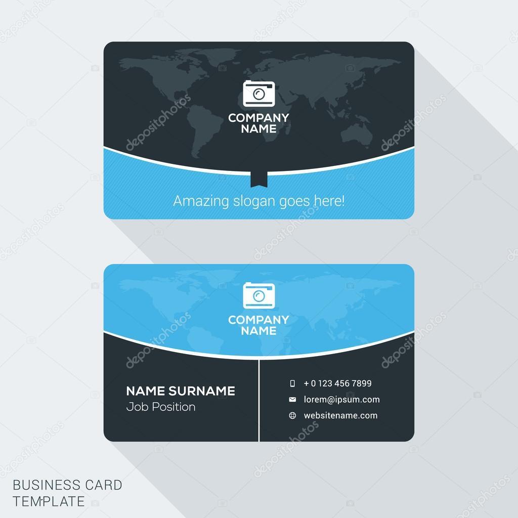 Modern creative business card template flat design vector modern creative business card template flat design vector illustration stationery design vetores de reheart Images
