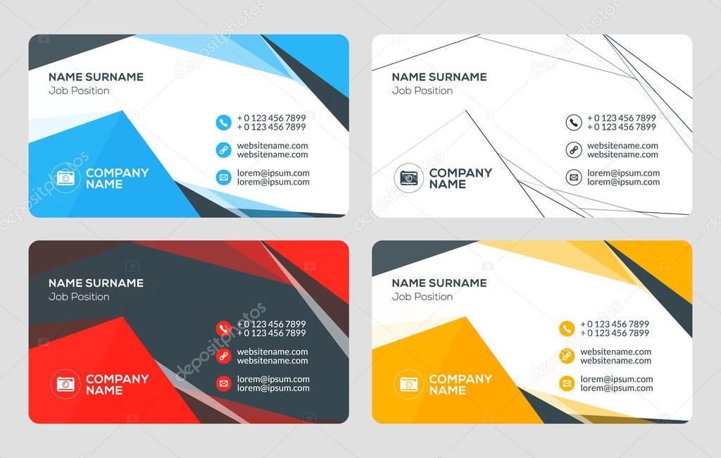 Creative business card template flat design vector illustration creative business card template flat design vector illustration stationery design 4 color combinations colourmoves