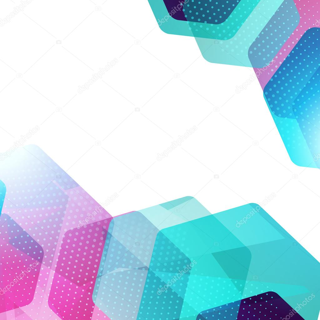 Abstract Hexagon Geometric Colorful Vector Background