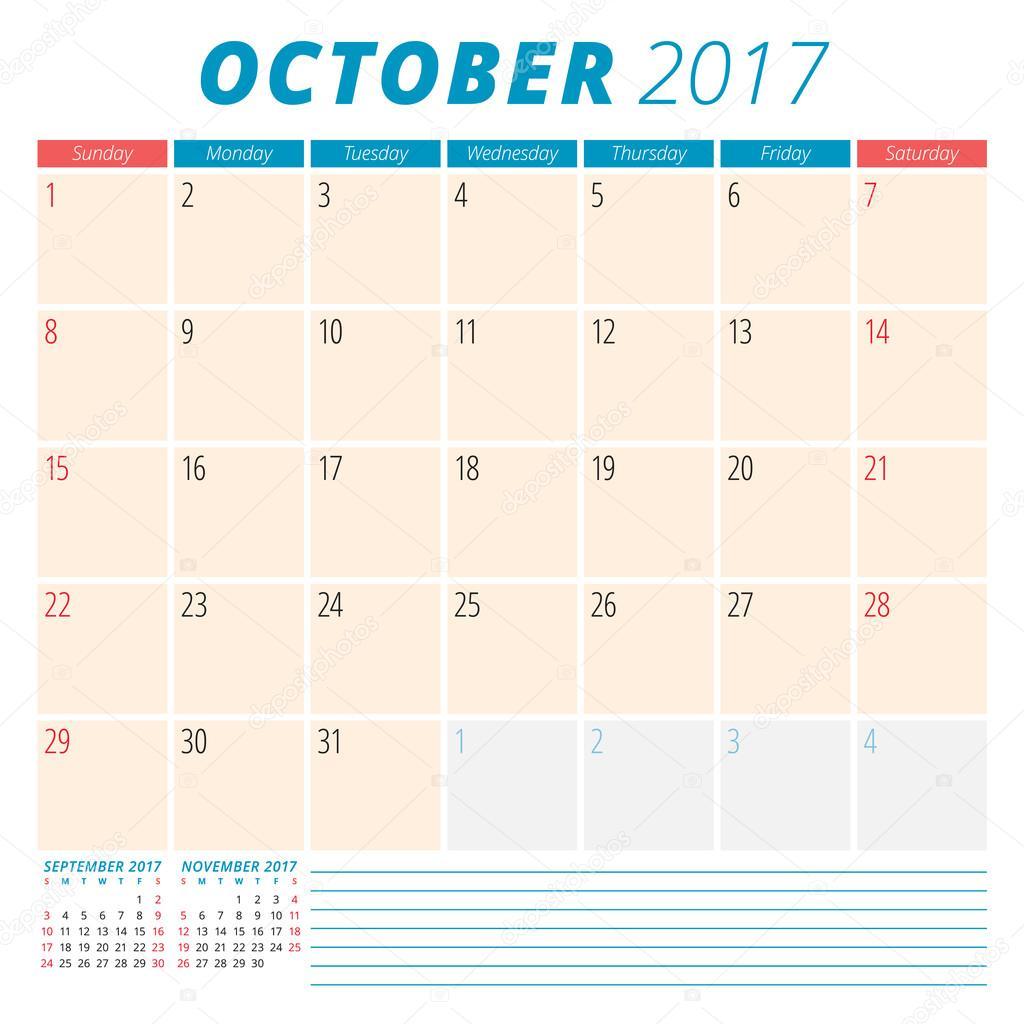 2017 calendar planner