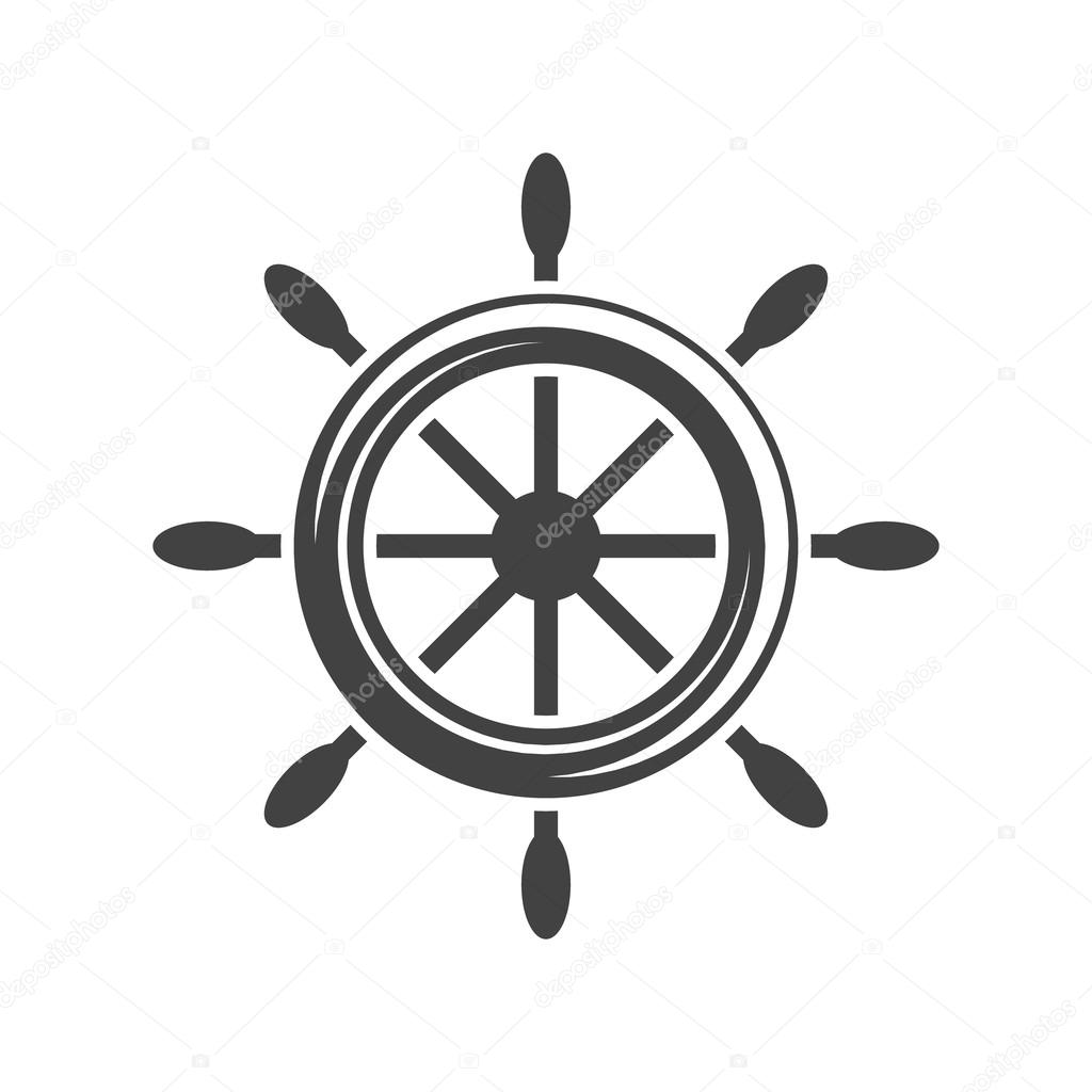 Ship Steering Wheel Helm Black Icon Logo Element Flat Vector Illustration Isolated On White Background Vector Image By C Antartstock Vector Stock 115367250