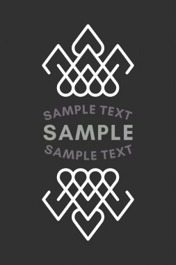 Slavic or Viking Style Oldfashioned Art Decorative Geometric Vector Frames and Borders. Black and white. Vector Ornaments, Vector Decoration, Line Ornament, Vector Logos, Vector Labels