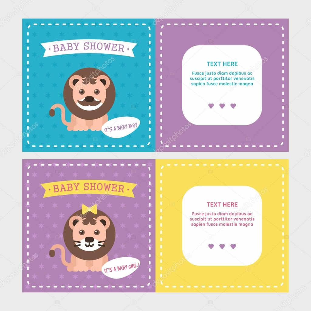 Baby Shower Invitation Card Templates For Baby Boy And Girl With
