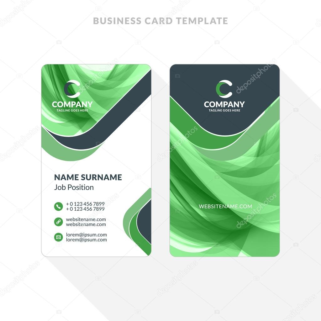Vertical double sided business card template with abstract vertical double sided business card template with abstract background vector illustration stationery design cheaphphosting Images