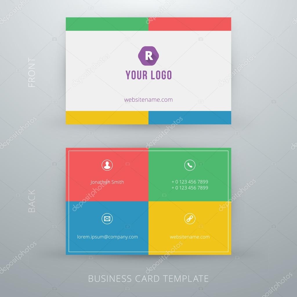 Modern simple business card template stock vector antartstock modern simple business card template stock vector colourmoves