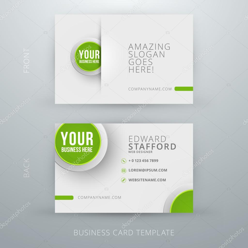 Modern simple business card template stock vector antartstock modern simple business card template stock vector colourmoves