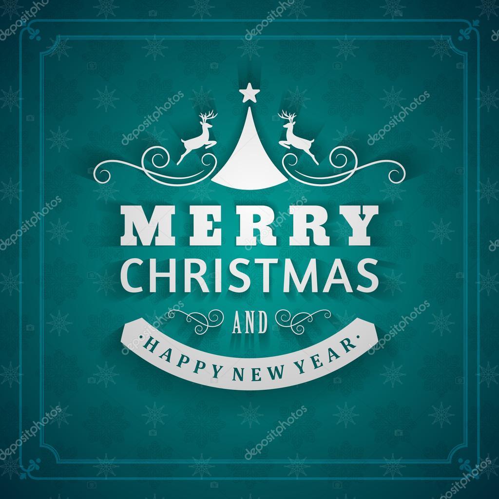Weihnachts Postkarte Ornament dekoration Hintergrund. Vektor-Eps ...