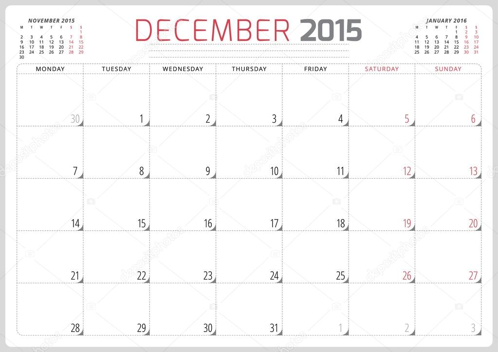 planificador de calendario 2015 plantilla semana comienza el lunes ...