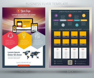 Vector business flyer template. For mobile application or online shop