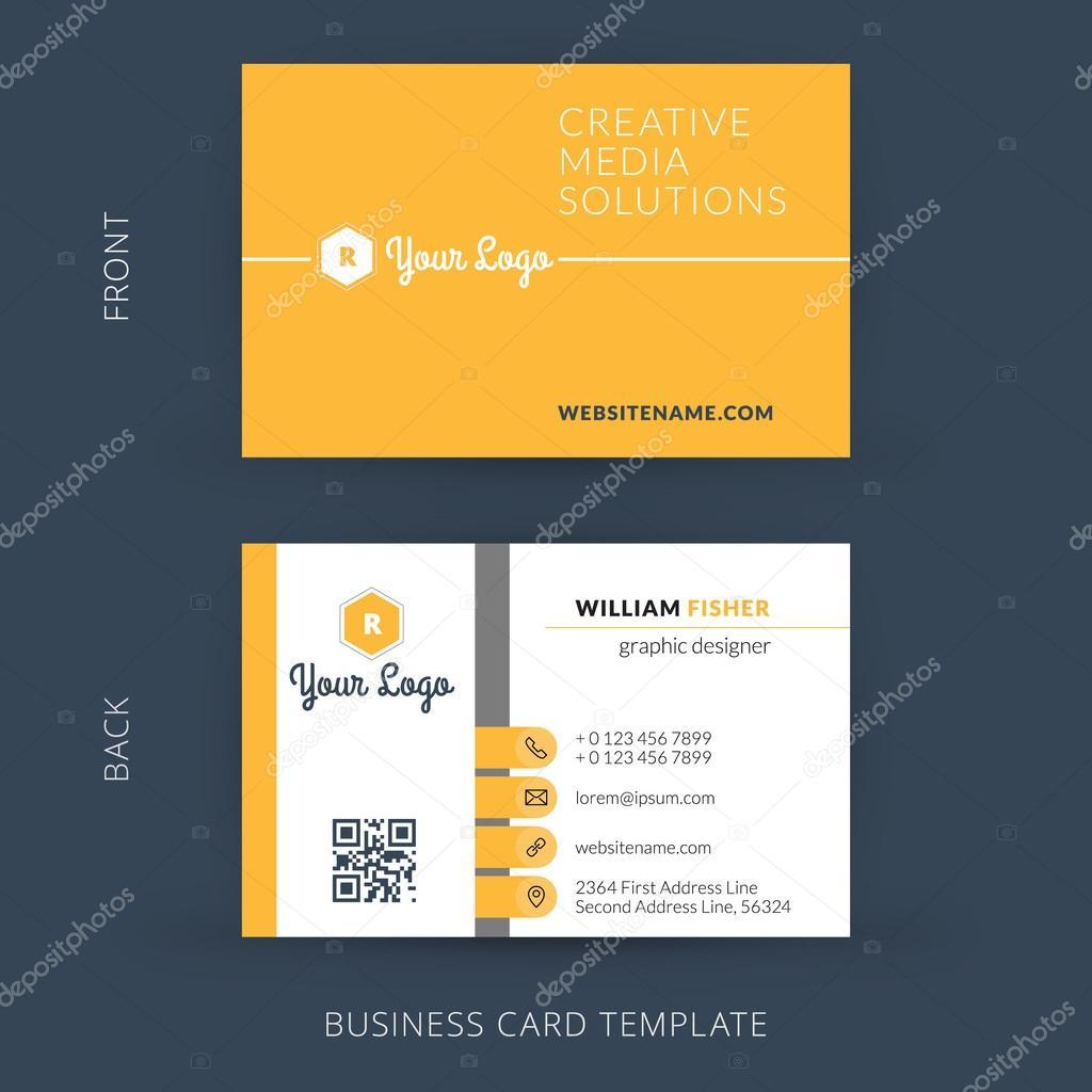 Vector modern creative business card template flat design eps 10 vector modern creative business card template flat design eps 10 stock vector reheart Gallery