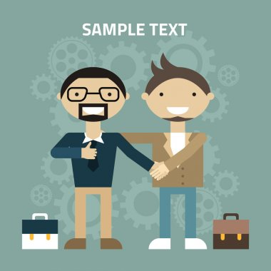Flat design vector illustration. Partnership concept. Handshake vector illustration