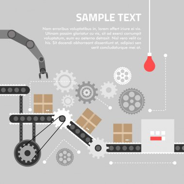 Flat design concept for technlology process. Vector illustration for web banners and promotional materials stock vector