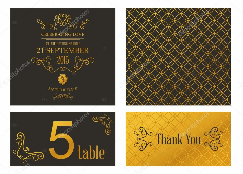 vector design template of wedding invitation with envelope stock