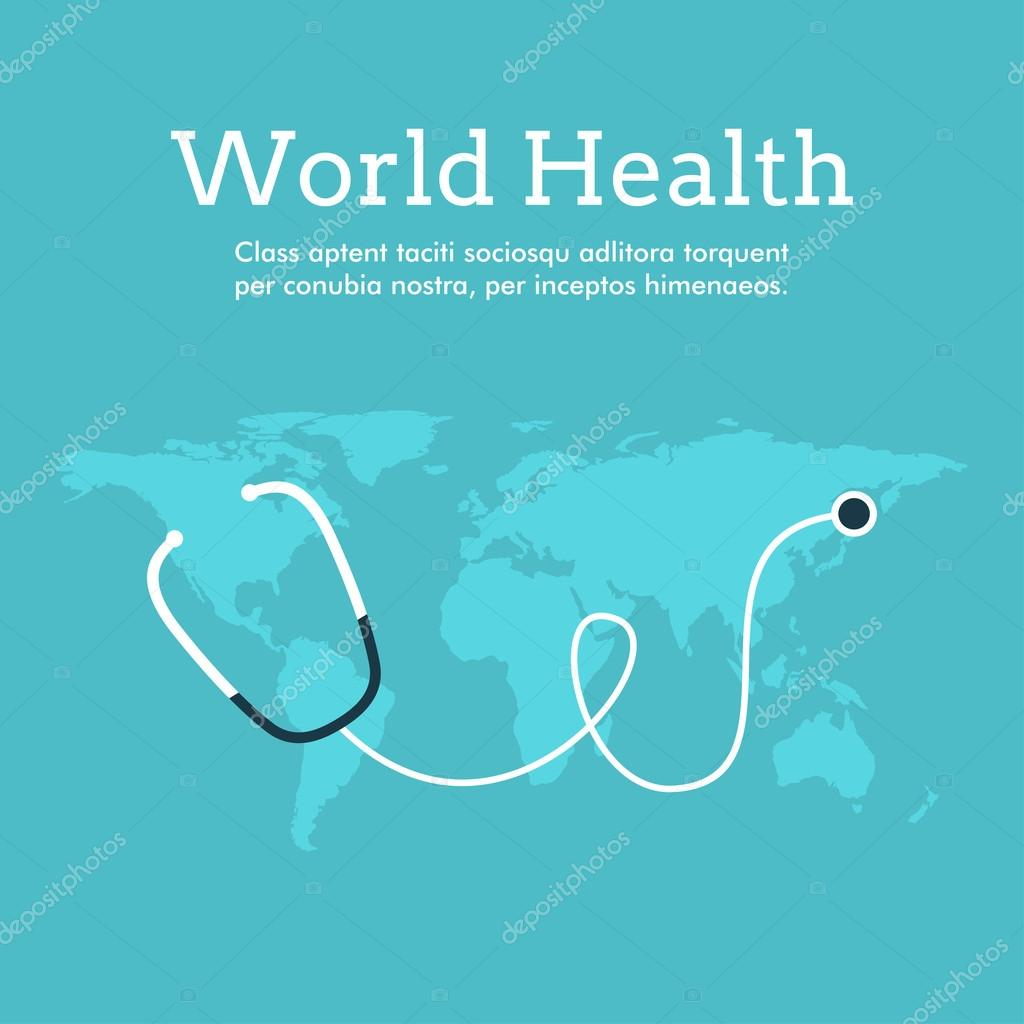 Poster design health - World Health Day Celebrating Card Or Poster Design Earth With Phonendoscope Stock Vector