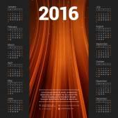 Šablona návrhu vektorové kalendáře 2016. Týden začíná neděle