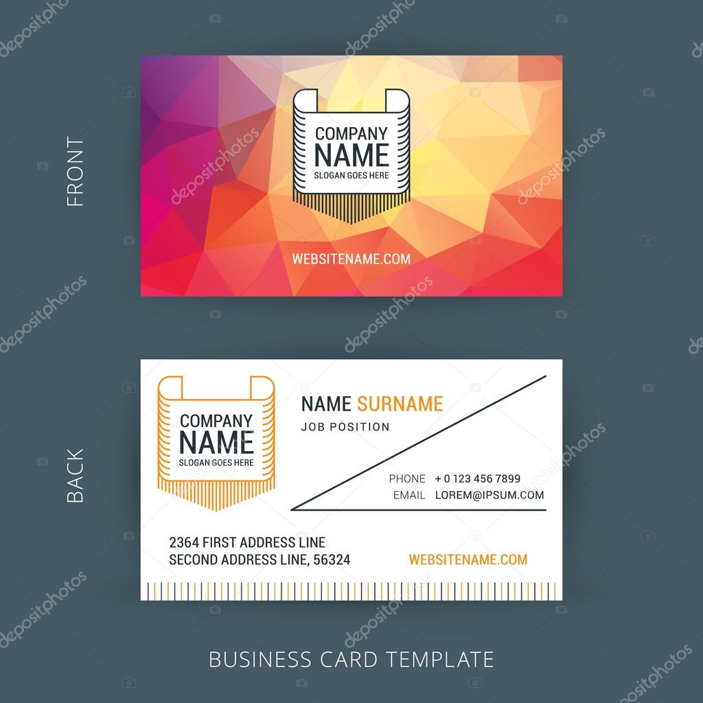 Vector Creative Business Card Template with Line Art Hipster