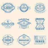 Fotografie sada bederní vinobraní štítky, logotypy, odznaky pro vaše podnikání