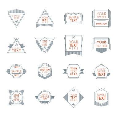 Set of Hipster Vintage Labels or Badges. Thin Line Design Template
