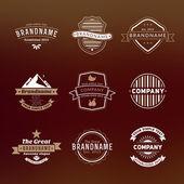 Fotografia set di etichette vintage hipster, logotipi, badge per il tuo business
