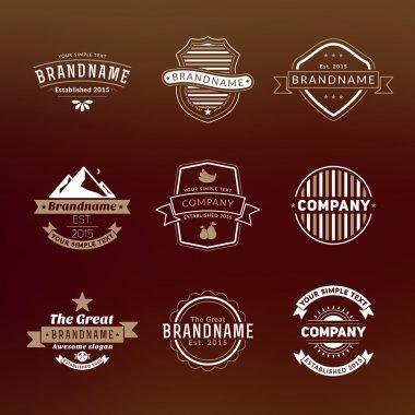 Set of Hipster Vintage Labels, Logotypes, Badges for Your Business