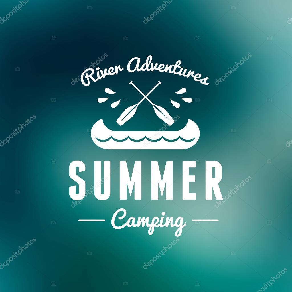 Retro Vintage Summer Camping Badge. Mountine Adventures and Outdoor Activities stock vector